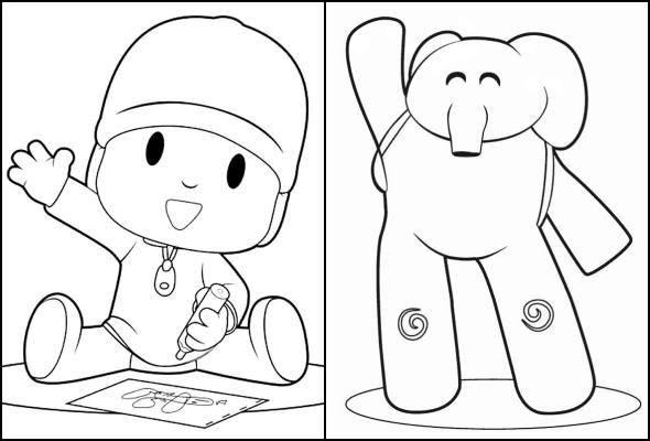 Desenhos Do Pocoyo Para Colorir Como Fazer Em Casa
