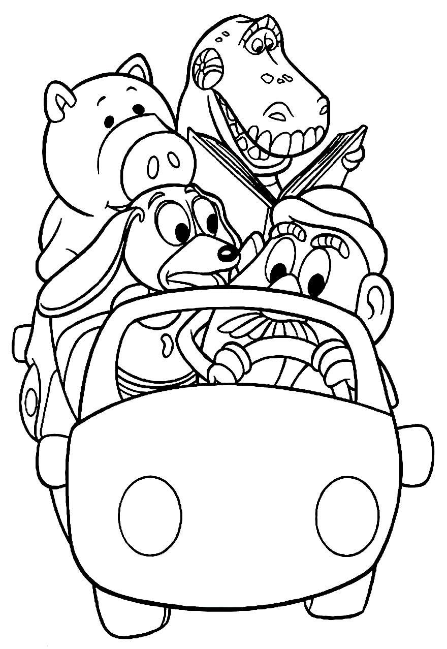 Desenho de Toy Story para colorir