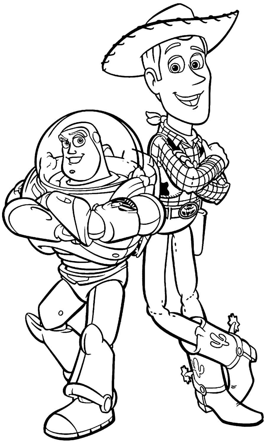 Desenho de Toy Story para pintar
