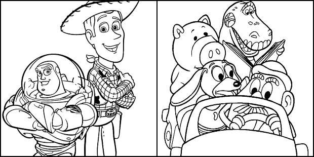Desenhos de Toy Story para colorir e imprimir