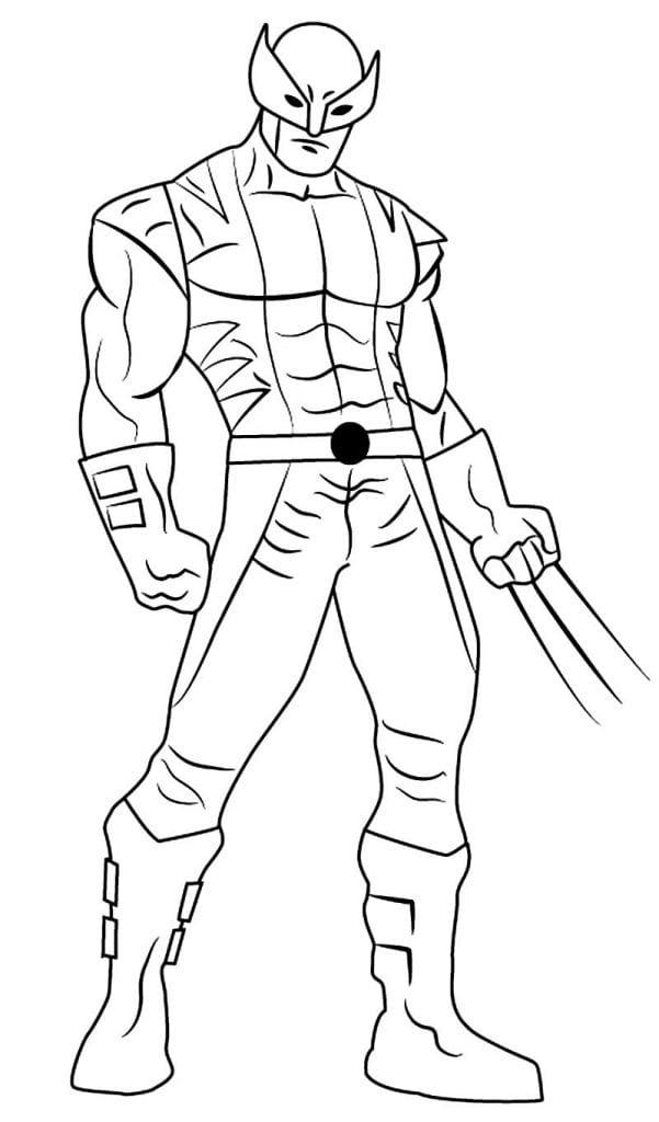 Imagem de Wolverine para pintar