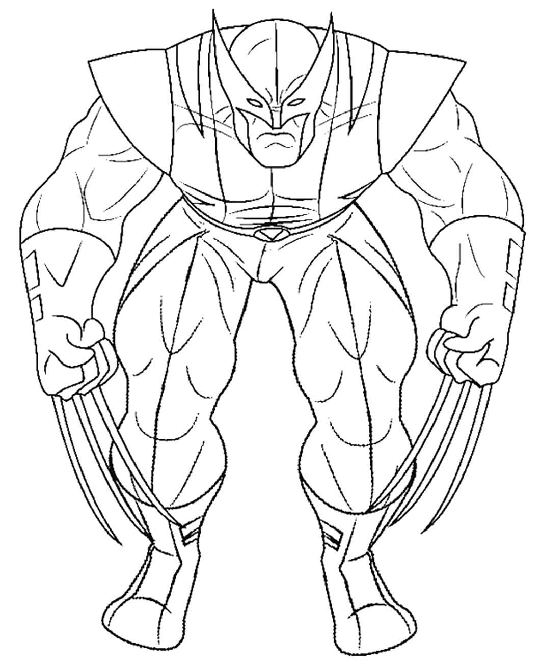 Molde de Wolverine para imprimir e colorir