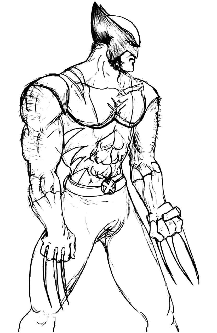 Molde de Wolverine para pintar