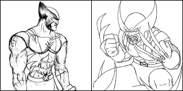 Imagens de Wolverine para colorir