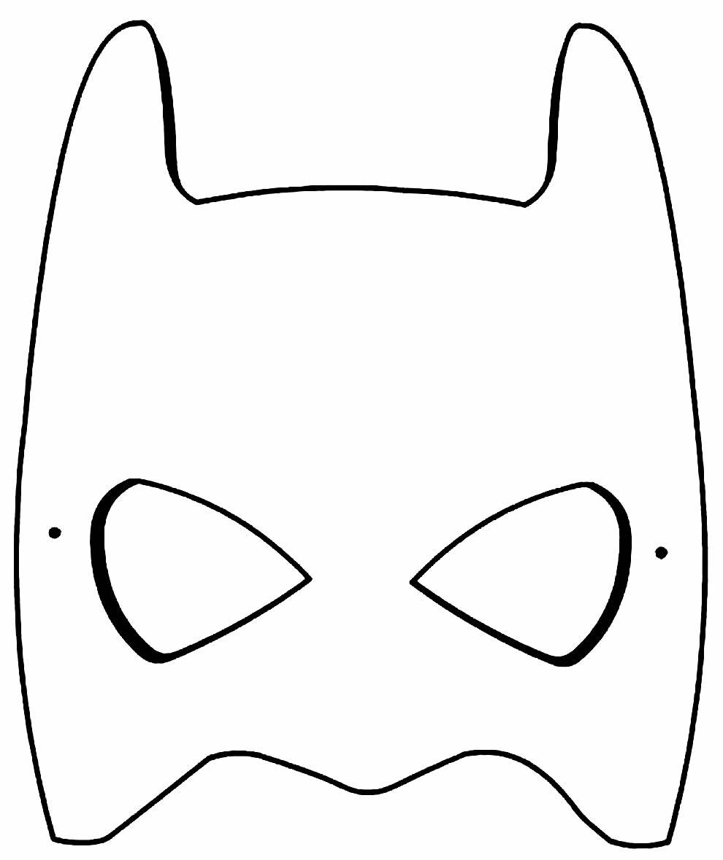 Máscara do Batman para recortar