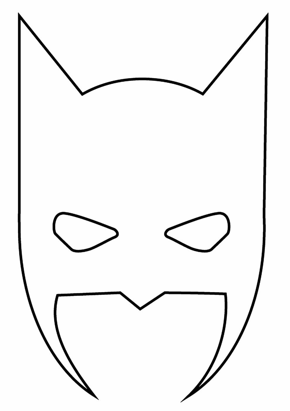 Máscara do Batman para colorir