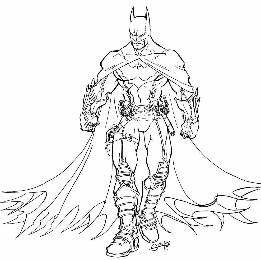 Desenho do Batman para colorir