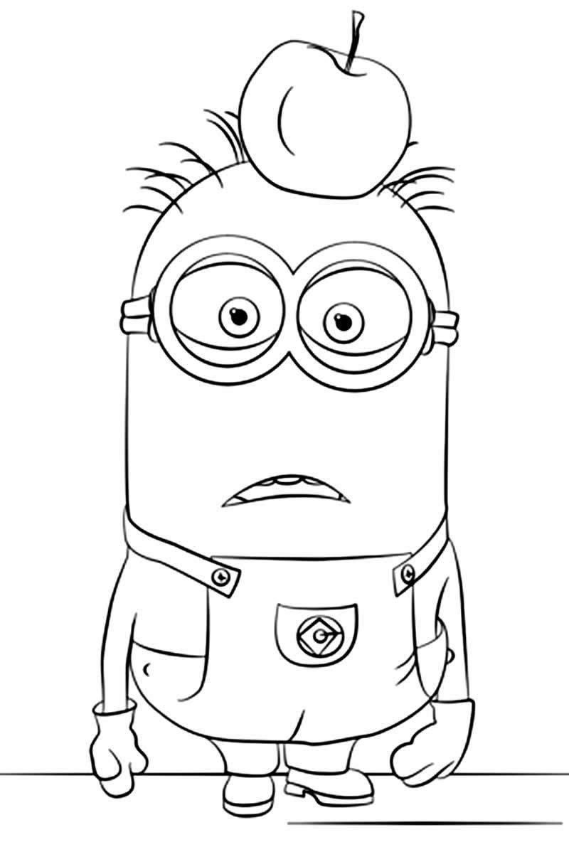 Imagem dos Minions para colorir