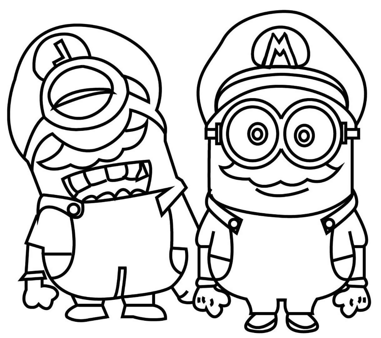 Moldes dos Minions para colorir
