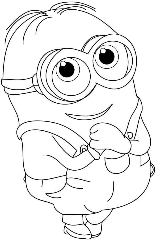 Moldes dos Minions para colorir Desenhos para pintar infantil
