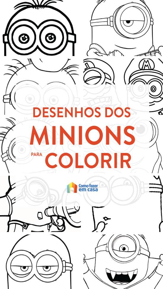 Desenhos lindos dos Minions para colorir e pintar