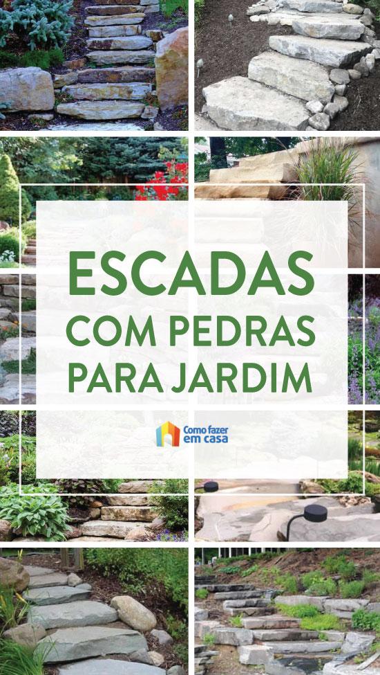Escadas com pedras para decoração de jardim