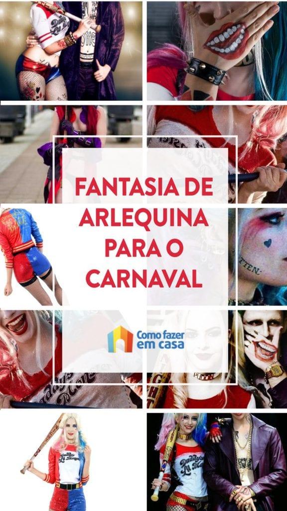 fantasia de arlequina para o carnaval