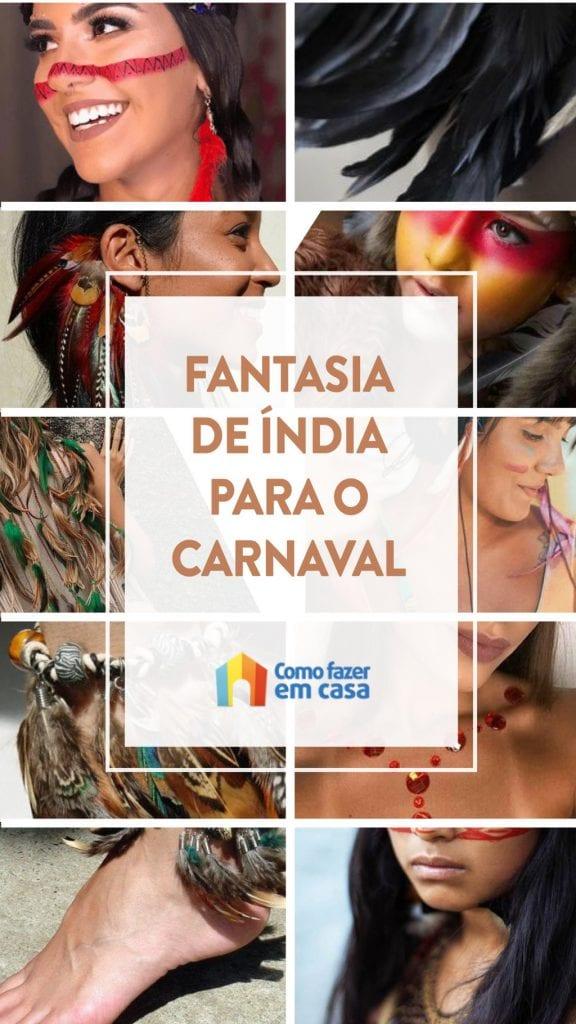 fantasia d eíndia para o carnaval
