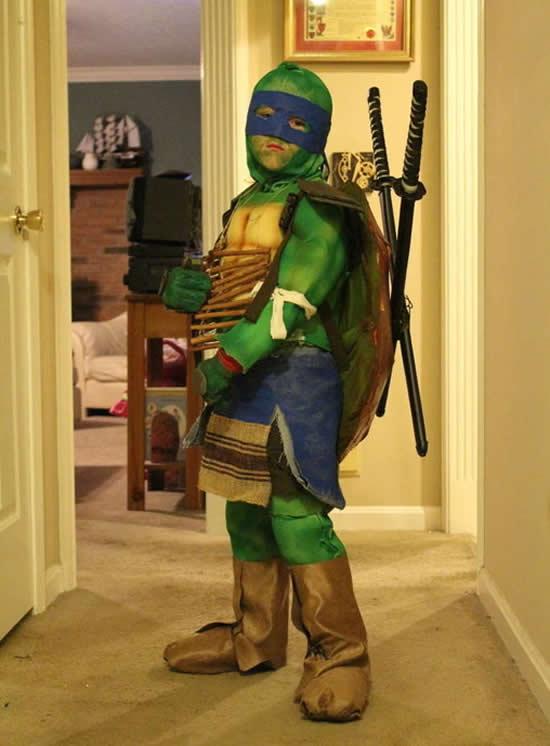 Fantasia de Tartaruga Ninja para crianças