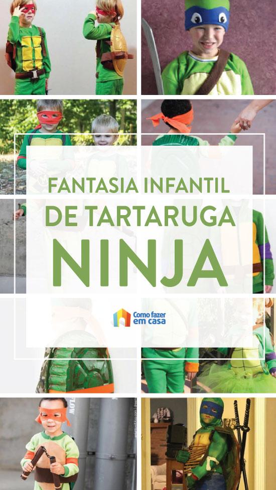 Fantasia infantil de Tartaruga Ninja