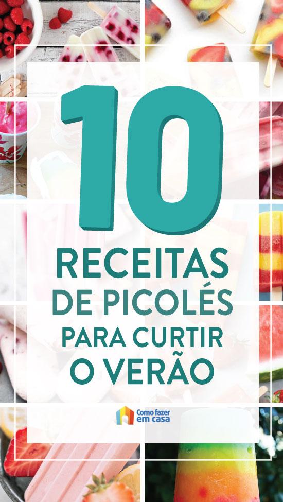 10 receitas de picolé para se refrescar no verão