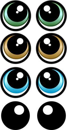 Molde de olhos para imprimir