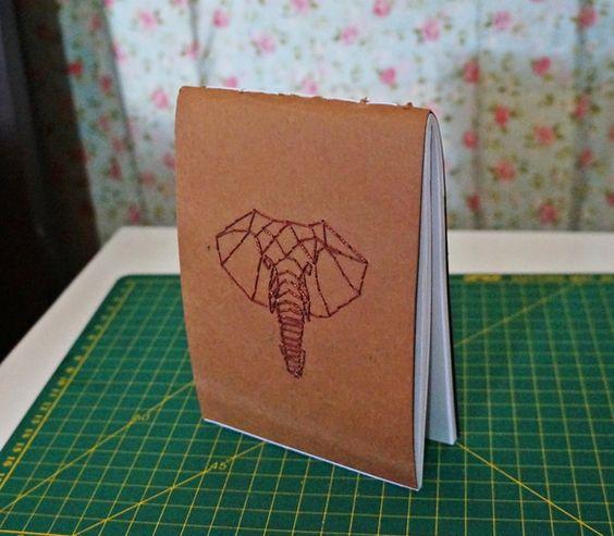 bordado em papel