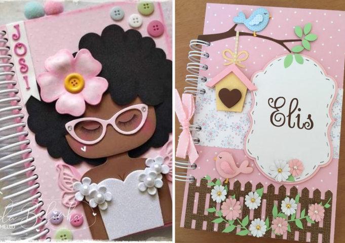 decoração de caderno com EVA
