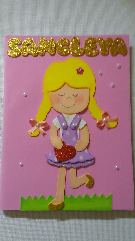 Capa de caderno em EVA