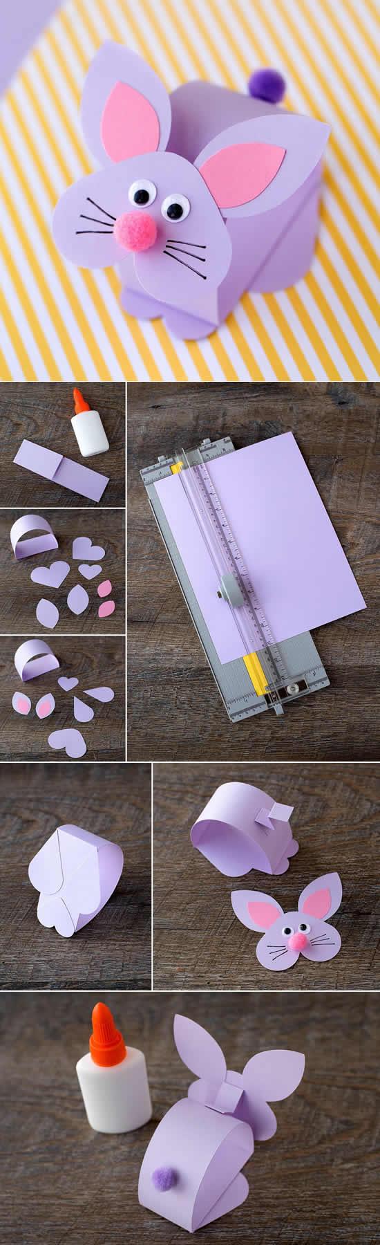 Coelhinho de papel passo a passo