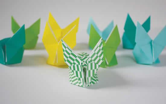 Lindos coelhos de papel - Dobradura