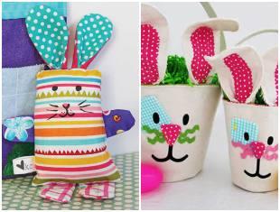 10 ideias de coelhos de tecido para Páscoa