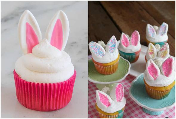 Cupcakes de coelhinho lindos