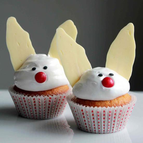 Cupcakes decorados de coelhinhos