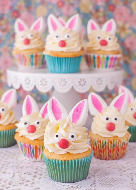 Lindos coelhinhos cupcakes para Páscoa