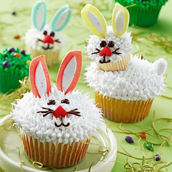 Cupcakes de Páscoa com coelhinho