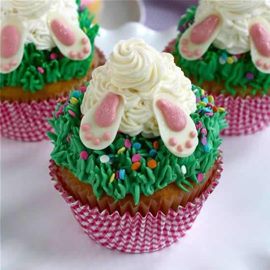 Cupcake para Páscoa de coelhinho