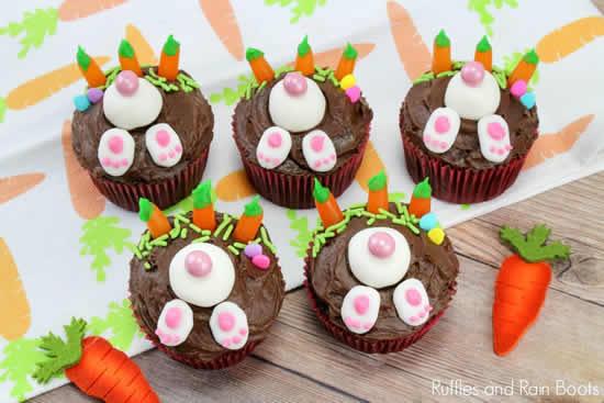 Cupcakes de coelhinho para Páscoa