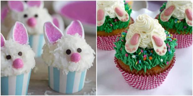 Cupcake de coelhinho da Páscoa