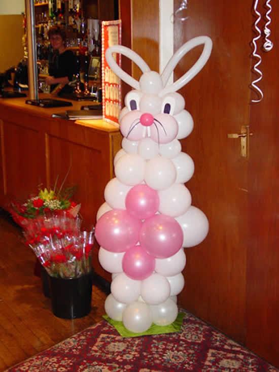 Decoração linda para a Páscoa com balões