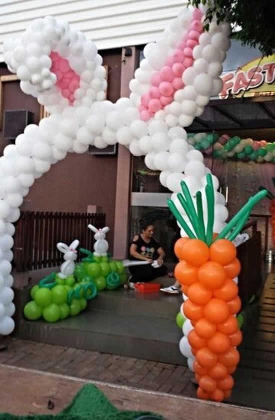 Dicas com balões para Páscoa