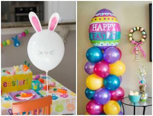 Enfeites com balões para Páscoa