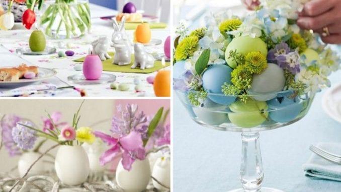Decoração de páscoa com ovos