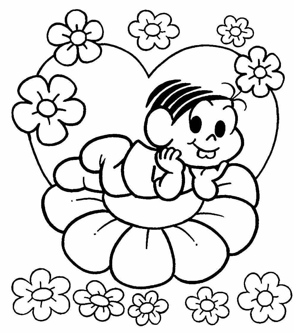 Desenho da Turma da Mônica para colorir
