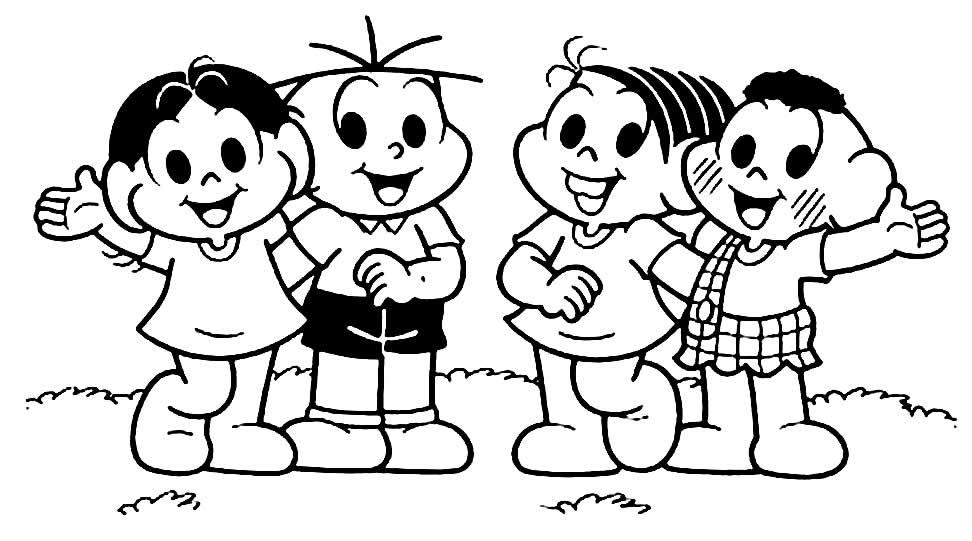 Imagem da Turma da Mônica para colorir