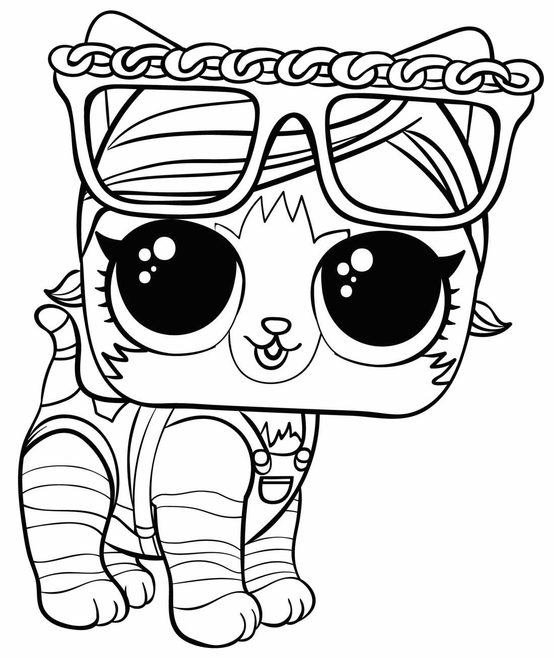 Imagem da Boneca LOL para pintar - Pet