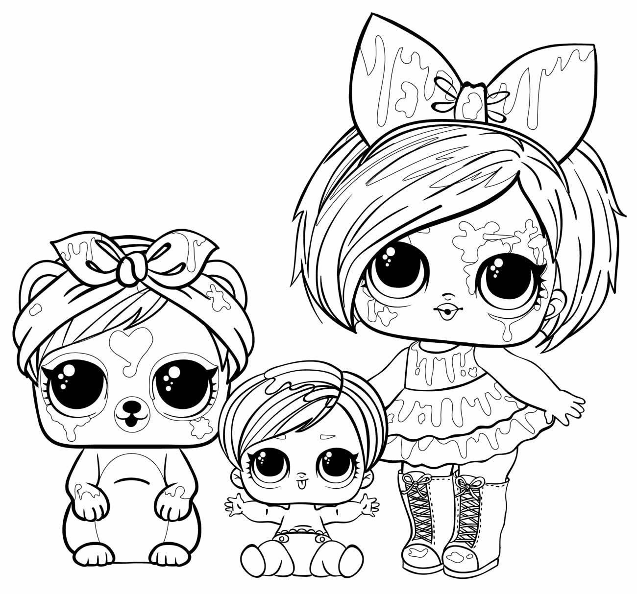 Desenho de bonecas LOL para pintar