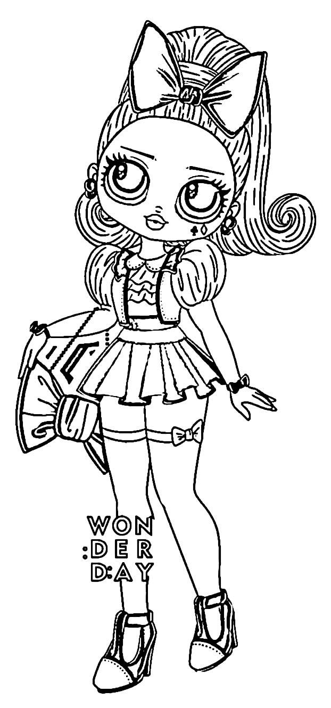 Desenho da Boneca LOL adolescente