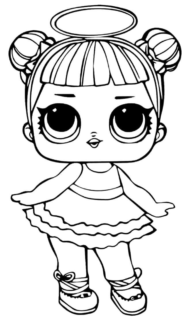 Desenho da LOL para colorir