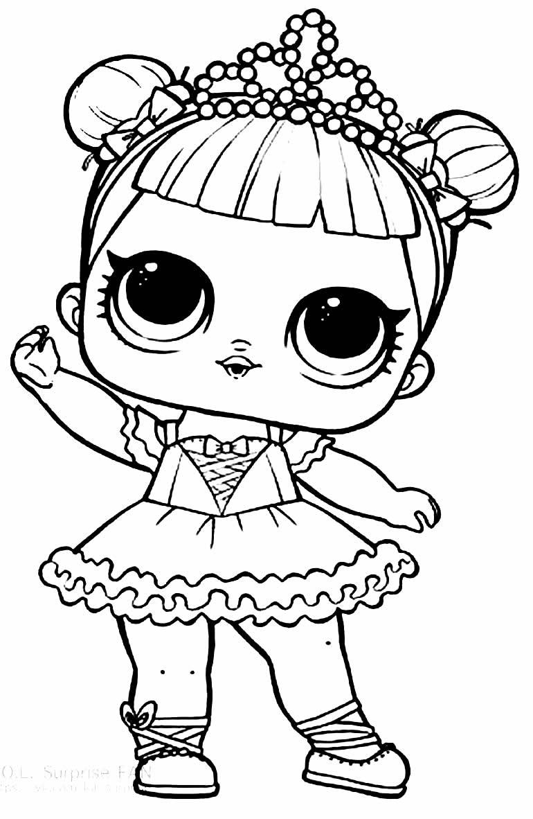 Desenho da Boneca LOL para colorir