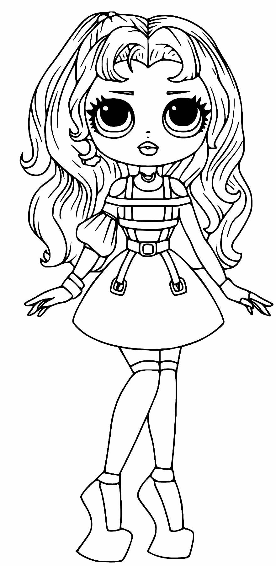 Desenho da Boneca LOL adolescente para colorir