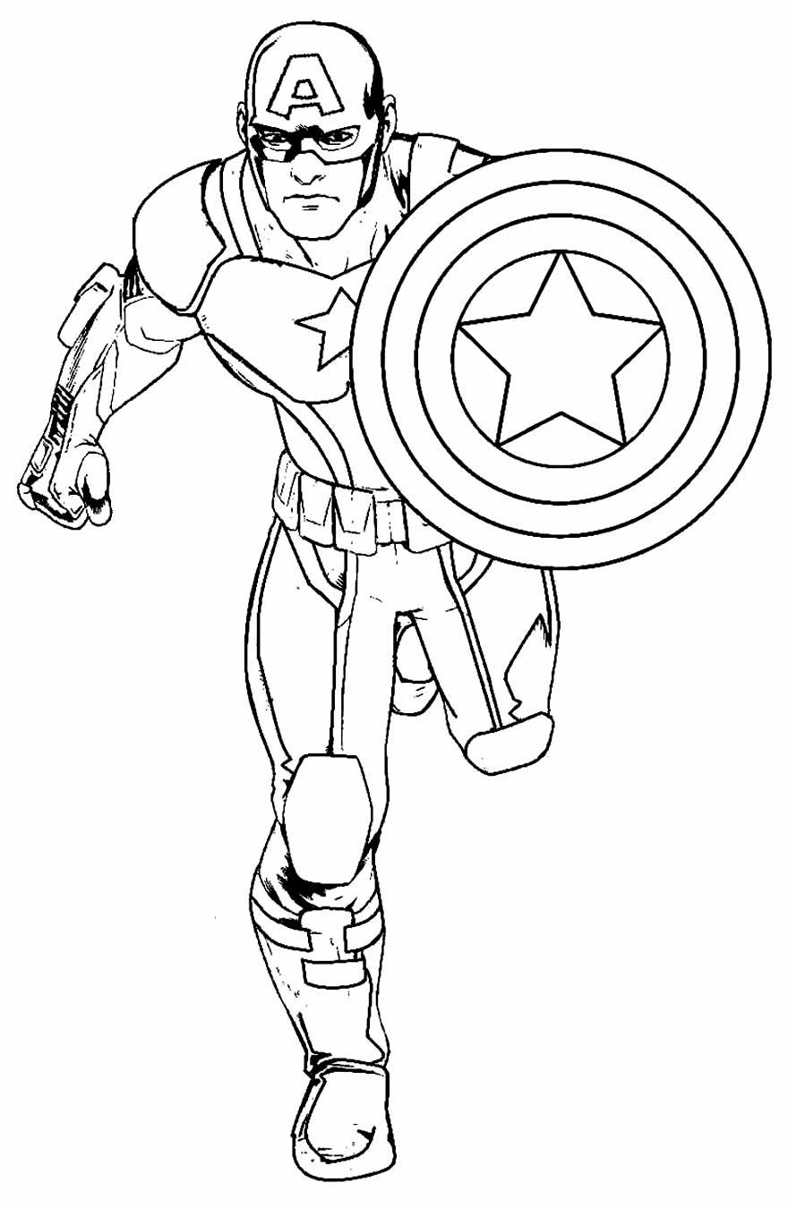 Imagem de Capitão América para pintar
