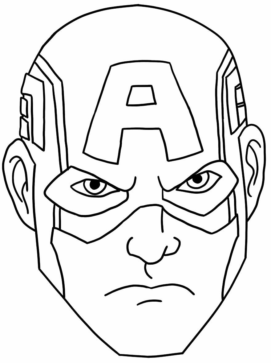 Imagem de Capitão América para colorir