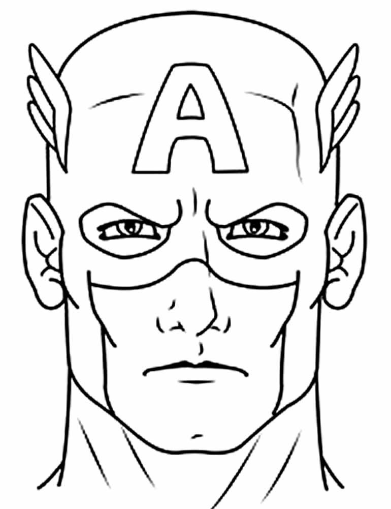 Modelo de Capitão América para pintar